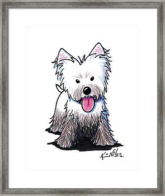 Westie Muddy Westie Framed Print