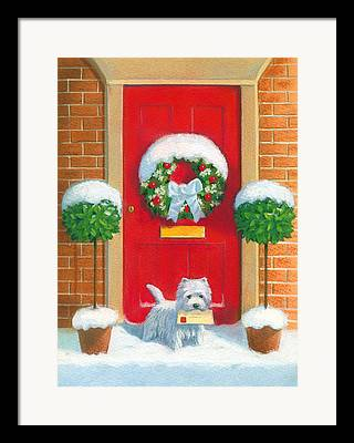 Doggy Paintings Framed Prints