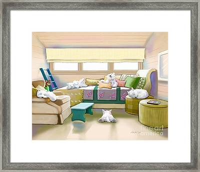 Westie Retreat  Framed Print by Catia Cho