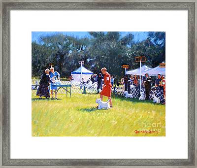 Westies Show Framed Print by Candace Lovely