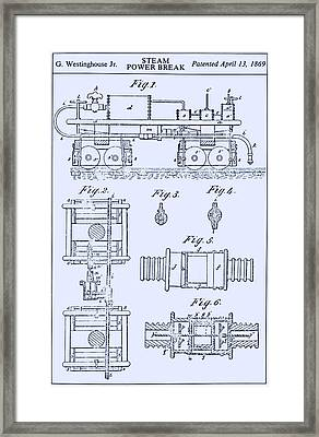 Westinghouse Steam Power Brake Patent Framed Print by Science Source