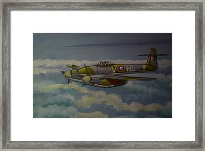 Framed Print featuring the painting Westland Whirlwind by Murray McLeod