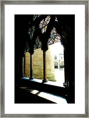 Westminster Abbey Courtyard Framed Print