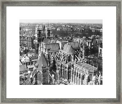 Westminster Abbey In London Framed Print by Underwood Archives