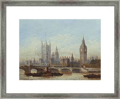 Westminster And Westminster Bridge From The River Framed Print by MotionAge Designs