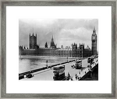 Westminster Bridge And Parliament Framed Print