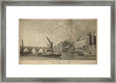 Westminster Bridge Framed Print by British Library