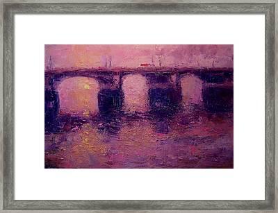 Westminster Bridge In Winter Light Framed Print by R W Goetting