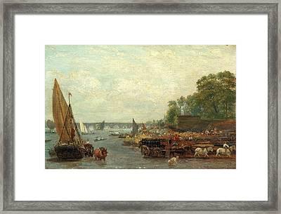 Westminster Bridge, London Frederick Nash Framed Print