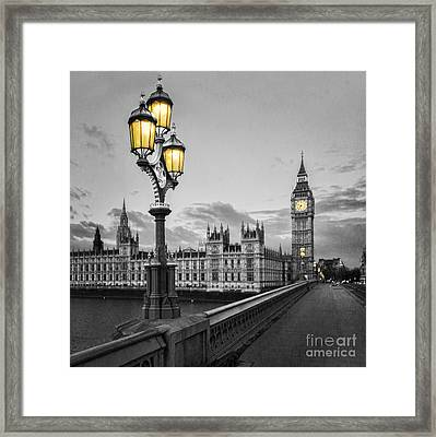 Westminster Morning Framed Print