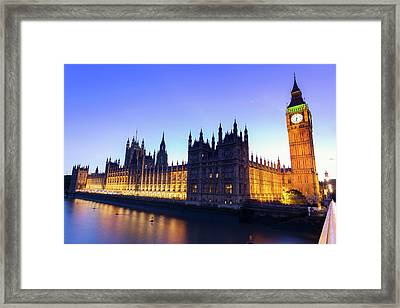 Westminster Palace Framed Print by  Ultraforma