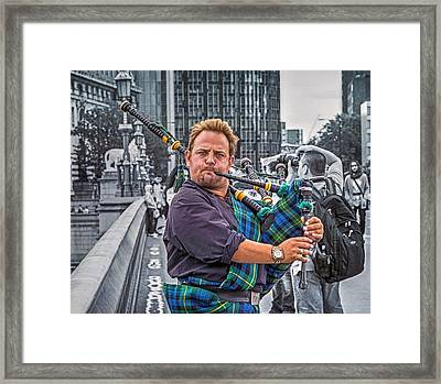 Westminster Piper Framed Print