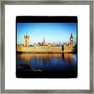 Westminster Reflections Framed Print by Maeve O Connell