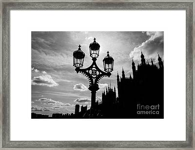 Framed Print featuring the photograph Westminster Silhouette by Matt Malloy