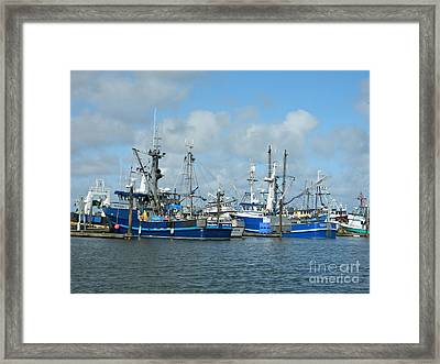 Westport Fishing Boats Framed Print by Chalet Roome-Rigdon