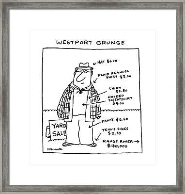 Westport Grunge Framed Print