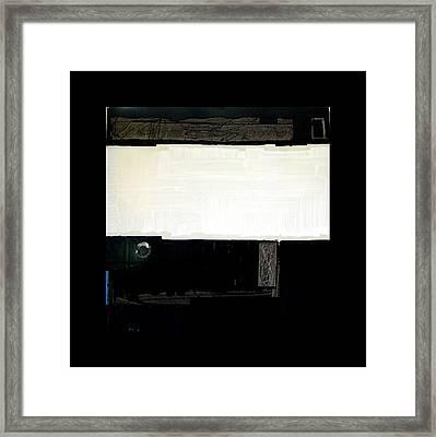 Westside Harbour Black Study I Framed Print by Mark Fearn