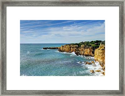 Westward Ho Sailing Around Castelo Points Algarve Portugal Framed Print by John Kelly