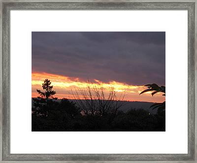 Westward Sunbreak - Seattle Framed Print by David Trotter