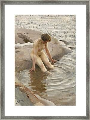 Wet Framed Print by Anders Zorn
