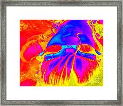 Wet Flames Of Hair Framed Print