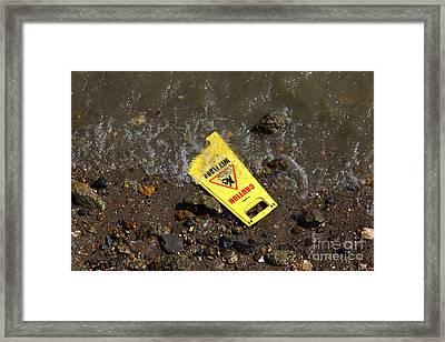 Wet Floor Alert Framed Print by James Brunker