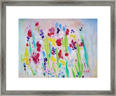 Wet Flowers Framed Print