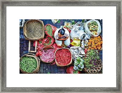 Wet Market In Ubud Framed Print