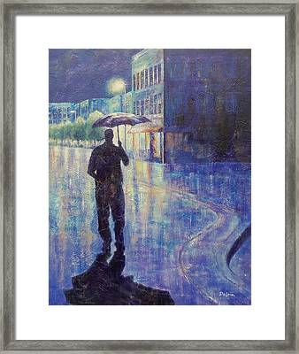 Framed Print featuring the painting Wet Night by Susan DeLain