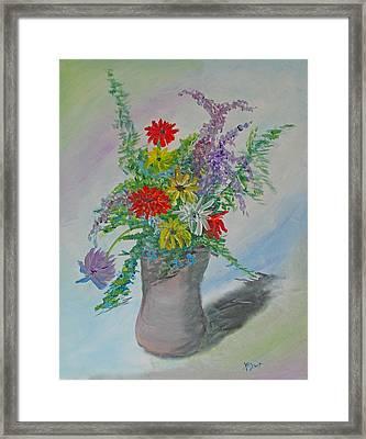Wet On Wet Floral Framed Print by Barbara McDevitt