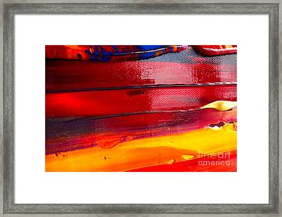 Wet Paint 123 Framed Print