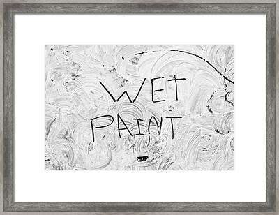 Wet Paint Framed Print by Tom Gowanlock