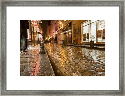Wet Paris Street Framed Print by Matthew Bamberg