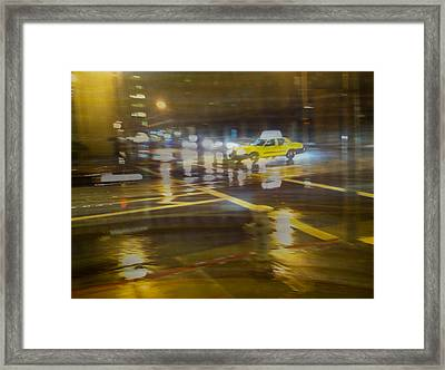 Framed Print featuring the photograph Wet Pavement by Alex Lapidus