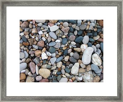 Wet Pebbles Framed Print by Margaret McDermott