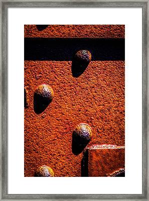 Wet Rivets  Framed Print by Bob Orsillo