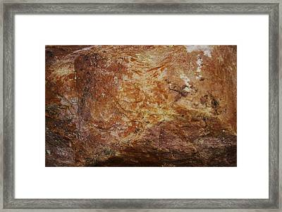 Framed Print featuring the photograph Wet Rock by J L Zarek