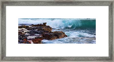 Wet Rock Framed Print by Kelley King