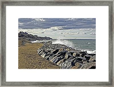 Wet Rock Walk  Framed Print