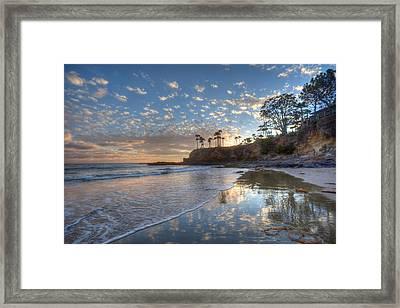 Wet Sand Reflections Laguna Beach Framed Print