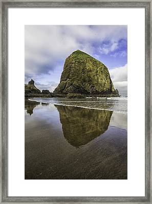 Wet Sand Framed Print