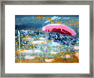 Framed Print featuring the painting Wet Sun by Leslie Byrne