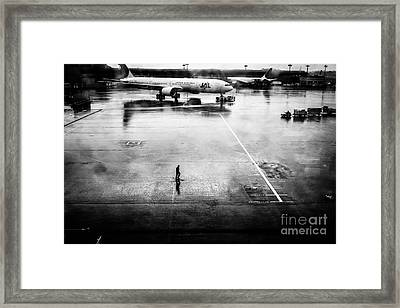 Wet Tarmac Framed Print