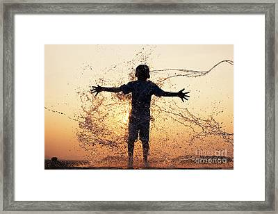 WET Framed Print by Tim Gainey