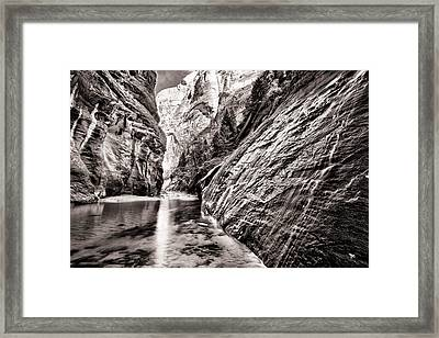 Wet Wall Bn Framed Print by Juan Carlos Diaz Parra