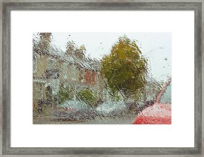 Wet Windscreen Framed Print