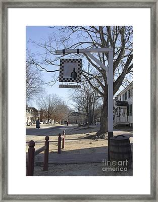 Wetherburn Tavern Sign Williamsburg Virginia Framed Print