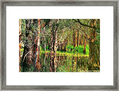 Wetland Reflections Framed Print by Wallaroo Images
