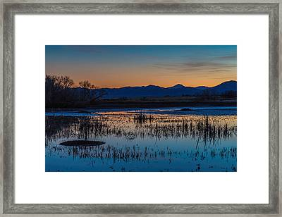 Framed Print featuring the photograph Wetland Twilight by Beverly Parks