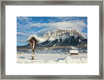 Wetterstein Mountain Chain With Mt Framed Print